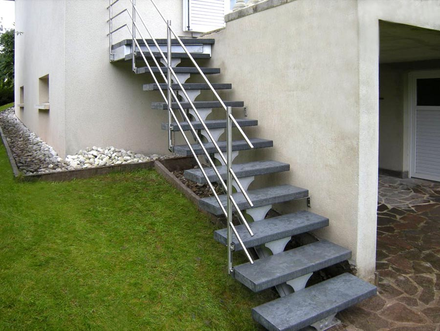 Spirwill ext escalier ext rieur en aluminium for Kit de renovation escalier leroy merlin