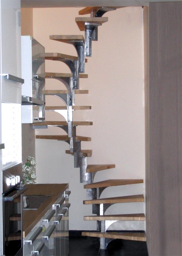 Glimop Glimop Carre Escalier Colimacon Sans Axe Central