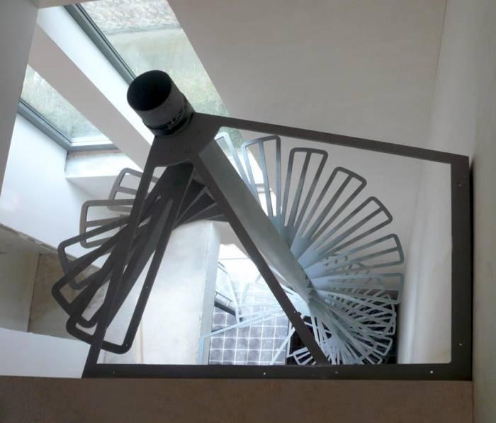 Loop Carre : Escalier Intérieur Colimaçon